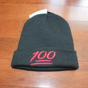 """Emoji """"keep it real/100"""" bonnet"""